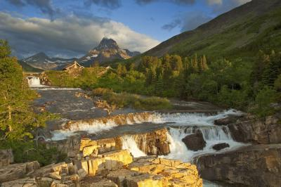 photos of Glacier National Park - Swiftcurrent Lake and Falls