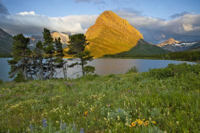 pictures of Glacier National Park - Swiftcurrent Lake and Falls