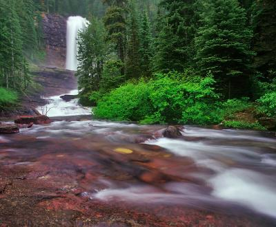 Montana instagram spots - Virginia Creek and Falls