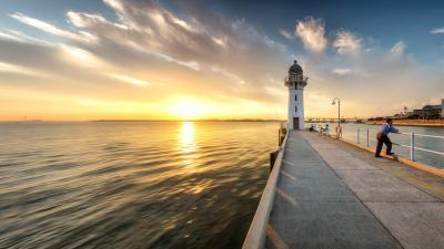 photography locations in Singapore - Johor Straits Lighthouse