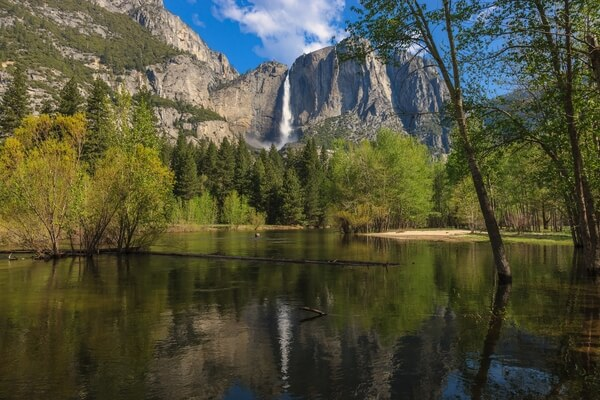 Yosemite Falls from Swinging Bridge