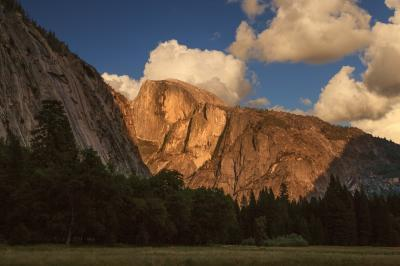 photography spots in California - Half Dome from Ahwahnee Meadow