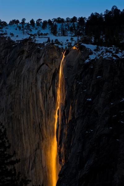 photography locations in California - Horsetail Fall (Merced River)