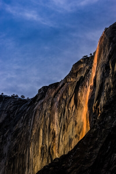 Horsetail Fall from El Capitan Picnic Area