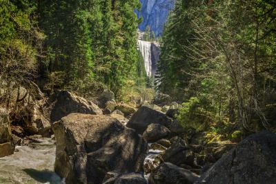 photography locations in California - Vernal - Nevada Fall Trail