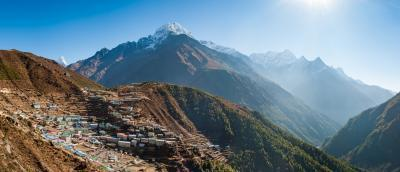 Namche Bazaar and Thermserku