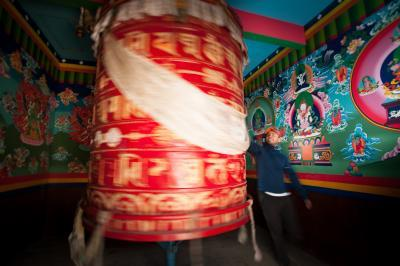 Tengboche prayer wheel