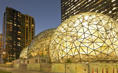 pictures of Seattle - Amazon Campus Biospheres