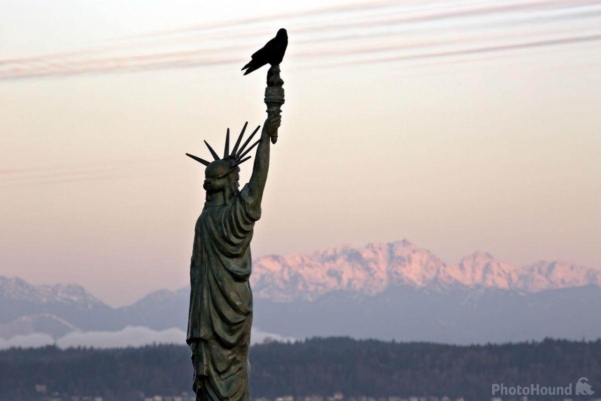 The Statue of Liberty at Alki Beach Park