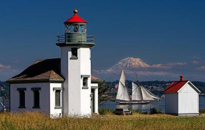 photo spots in King County - Point Robinson Lighthouse