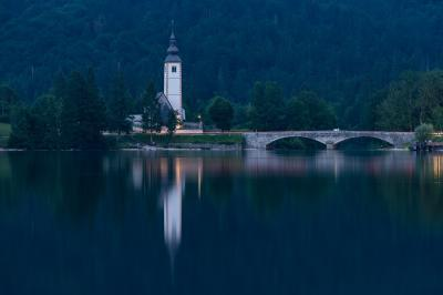 pictures of Triglav National Park - Bohinj church view