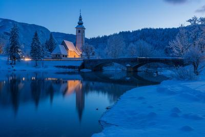 pictures of Triglav National Park - Lake Bohinj - St John's Church