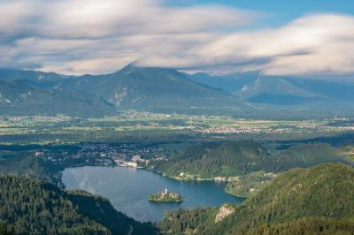 images of Lakes Bled & Bohinj - Lake Bled from Gače Viewpoint