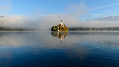 photo locations in Lakes Bled & Bohinj - Lake Bled Island Front View