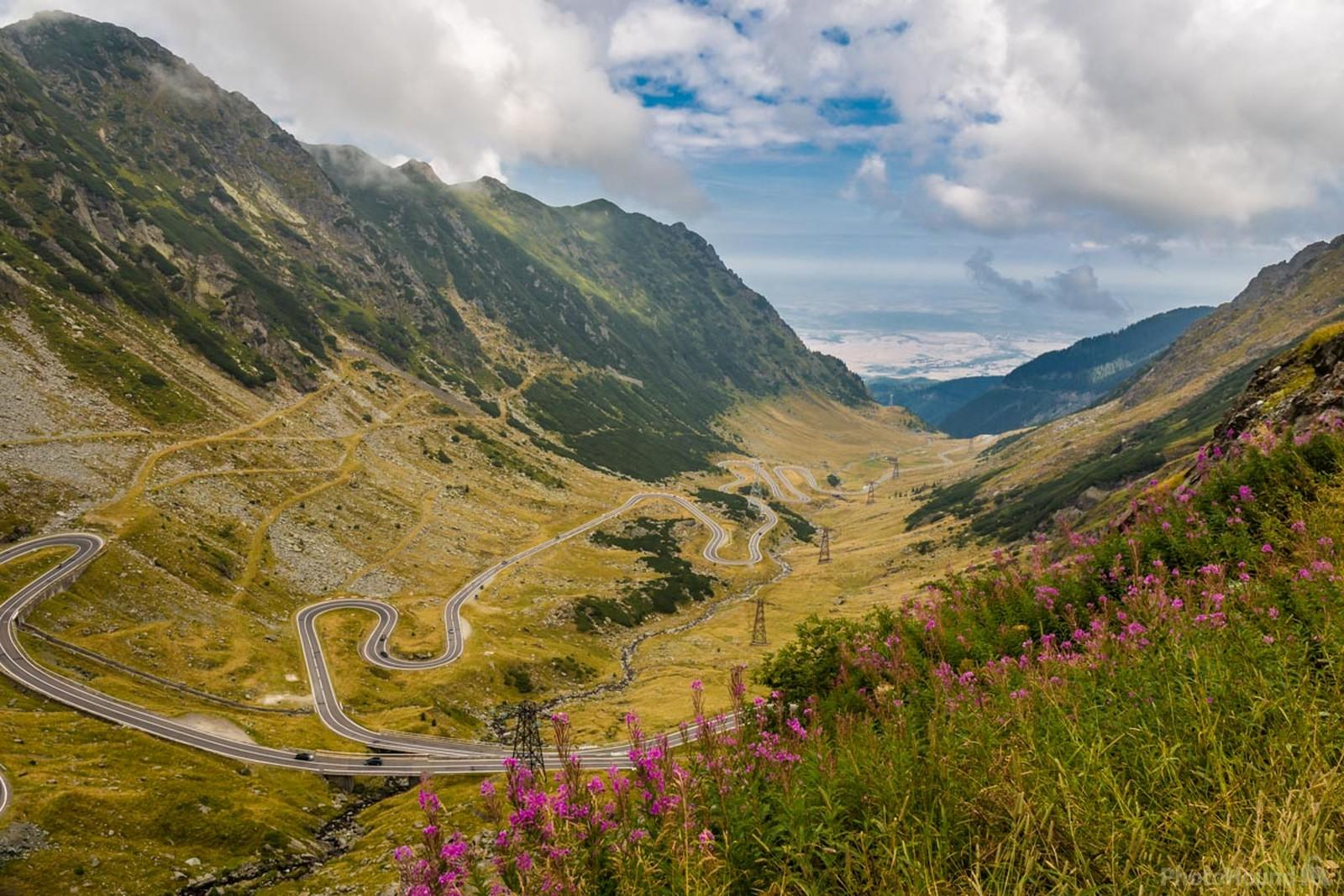 The famous Transfagarasan Highway is the most beautiful road in Romania crossing the Transylvanian Alps (Carpathian Mountains).